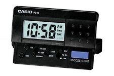 Casio New PQ-10D-1R Small Black LED Digital Travel LCD Display Alarm Clock PQ-10