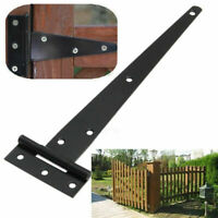2 Pcs Iron Tee Hinges Black Heavy Duty Strap Cabinet Hinge Garden Shed Gate