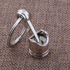 1pc Hot Car Creative Cute Metal Silver piston Keychain Universal for Men/Women