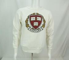 Vintage Harvard Sweatshirt Long Sleeve Crewneck White Medium