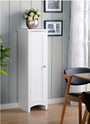 White Storage Cabinet Bathroom Laundry Kitchen Cupboard Pantry Shaker 4ft Tall