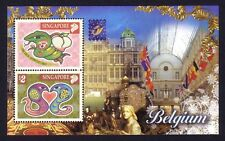 Singapore 2001 Zodiac Year of the Snake - Belgium Stamps Exhibition M/S