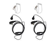 2x FBI Style Police Security Headset For Baofeng UV-3R UV-5R Radio Speaker Mic