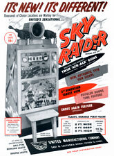 "Arcade Game Flyer Poster - Sky Raider (1958) Canvas Art Poster 18""x 24"""