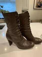 Women's Faith size 6 Vintage/steampunk /goth style  brown leather ankle boots