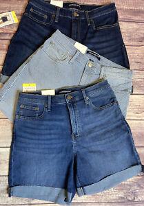 Calvin Klein Jeans Roll Cuff Denim Shorts Choose Color High Rise 6 8 10 12 16