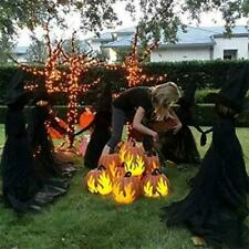 Halloween Light-Up Witches Decorations Outdoor Holding Hands Screaming Witches