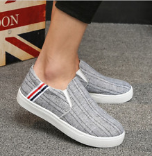 Men Sneakers Sport Canvas Breathable Running Slip on Casual Athletic shoes