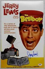 JERRY LEWIS Signed THE BELLBOY Movie Poster 11x17 Photo PSA/DNA COA AUTOGRAPH