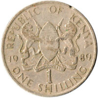 Kenya, 1 Shillings, 1989, VF Copper-nickel, #WT1344