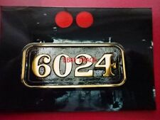 PHOTO  GWR KING CLASS LOCO NUMBERPLATE  6024