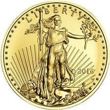2016 1/10 oz American Gold Eagle Coin (BU, New)