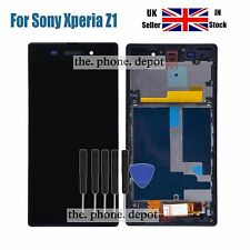 For Sony Xperia Z1 L39h C6903 Replacement LCD Touch Screen Digitizer Frame Black