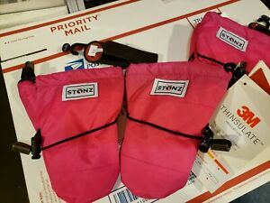 NEW Stonz Infant Mittz PINK BLACK Toddler Warm Gloves Mittens Size: 0-12 Months