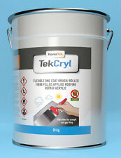 20kg BLACK TekCryl Acrylic instant roof repair Cromapol fast fix gutter one coat