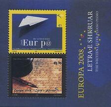 EUROPA CEPT 2008 DER BRIEF - KOSOVO BLOCK 9 - POSTFRISCH **