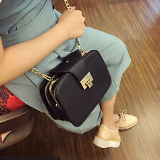 Fashion New Women Shoulder Bag Chain Strap Flap Messenger Handbag Metal Buckle
