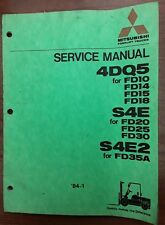 Mitsubishi Lift Truck Service Manual for 4DQ5, S4E, and S4E2