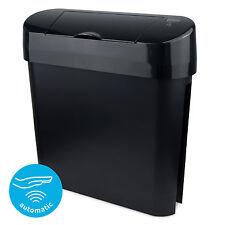 Donna nero Sanitari Bin automatico auto-SANI igiene donna cestini per rifiuti-WC