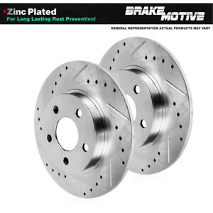 For 2014 2015 2016 Ram Promaster 1500 Rear Drilled Slotted Brake Rotors