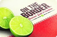 On The Border Mexican Grill & Cantina® Gift Card -$25 $50  $100 - Email delivery