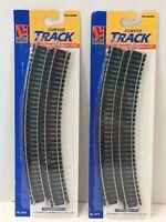 Ho Scale Life-Like Train Curved Track Lot Of 2 Packs #8602