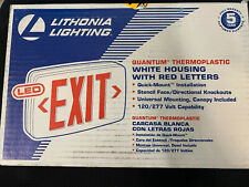 Lithonia Lighting Quantum Thermoplastic LED Emergency Exit Sign Red Letters . F5