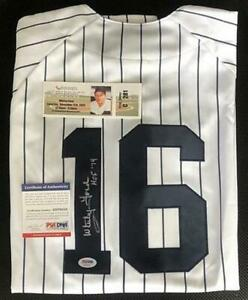 Whitey Ford auto signed Inscribed HOF 74 PSA/DNA Majestic Jersey full size