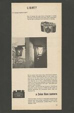 ZEIS IKON camera  - 1957 Vintage Print Ad