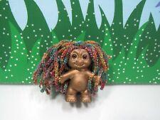 """Golden Troll With Rasta Type Hair - 2"""" Russ Troll Doll - Oak"""