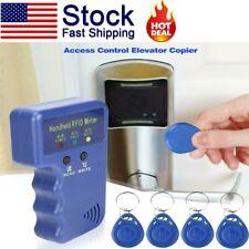 Handheld 125KHz RFID Duplicator Key Copier Reader Writer ID Card Cloner W/ Keys