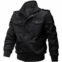 Mens MA-1 Bomber Jacket Military Cargo Jacket Pilot Flight Coats jackets For Man