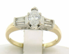 Anillos de joyería con diamantes de oro blanco, baguette VS2