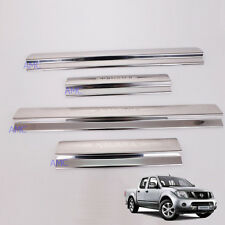 Fit 2005+ Nissan Navara D40 Pickup Side Step Trim Step Plate Scuff Chrome 4 Door