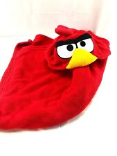 Angry Bird Hooded Blanket throw plush red