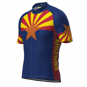 Arizona State Flag Cycling Jersey mens team cycling Short Sleeve jersey