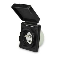 RV Black 125/250V 30 amp Standard Twist Power Easy Lock Inlet for power cord