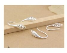 6pcs Charm Earring Hooks Wire Setting Base Jewelry Making Craft Accessories