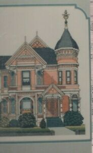 The Pink Lady - Victorian House Cross Stitch Chart - from my personal stash