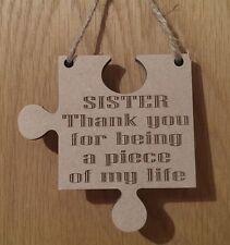 Sister Gift Piece Of My Life Jigsaw Piece Thank You Present Keepsake
