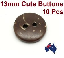 10 PCs Brown Coconut Shell 2 Holes Sewing Buttons Scrapbooking 13mm x  2.8m