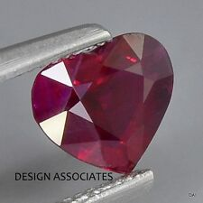 RUBY 14.50 MM HEART CUT NATURAL GEMSTONE  AAA  1 PC SET