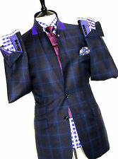 BNWT RARE LUXURY MENS TED BAKER ENDURANCE MIXED TARTAN BOX CHECK SUIT 40R W34