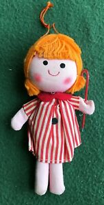 vintage 1960s R. Dakin DREAM DOLLS small redheaded girl with a stripped dress