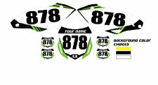2012 KAWASAKI KXF 450 CUSTOM NUMBER PLATE BACKGROUND​ GRAPHICS MX DECALS