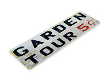 Garden Tours Tin Metal Sign Cottage Flower Rose Vegetable Decor Tin Sign B148