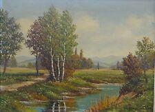 """Baumgartner oder ähnlich """"Landschaft"""" Öl/Leinen, gera (229/12031)"""