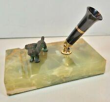 Vintage Green Marble Scheaffer Desk Pen Holder