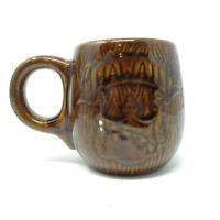 Vintage Coffee Mug Hawaiian Hawaii Emblem Art Pottery Sales Painted Message