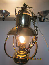 Nautical Decor, Hanging, Brass Galley Lantern